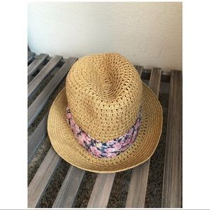 Accessories - Soft Straw Hat :: Floral Ribbon